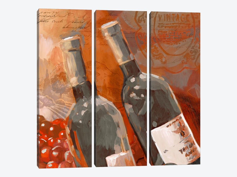 Red Wine II 3-piece Canvas Wall Art
