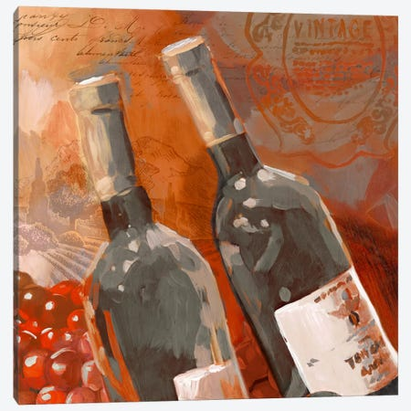 Red Wine II Canvas Print #ESK216} by Edward Selkirk Art Print