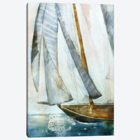 Sailboat Blues I Canvas Print #ESK217} by Edward Selkirk Canvas Art Print