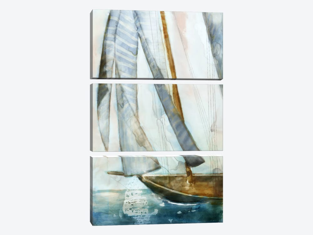 Sailboat Blues I by Edward Selkirk 3-piece Art Print