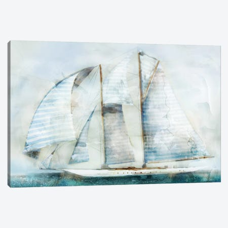 Sailboat Blues II Canvas Print #ESK218} by Edward Selkirk Canvas Wall Art