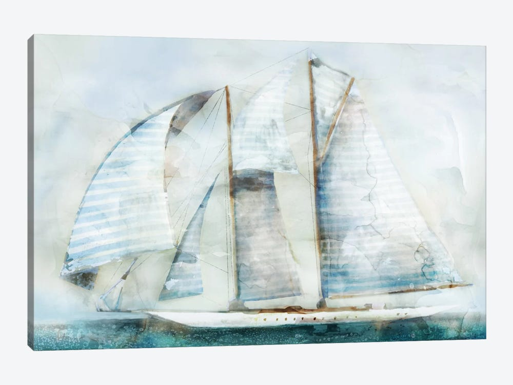 Sailboat Blues II by Edward Selkirk 1-piece Canvas Art