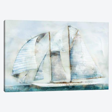 Sailboat Blues II Canvas Print #ESK218} by Edward Selkirk Canvas Wall Art