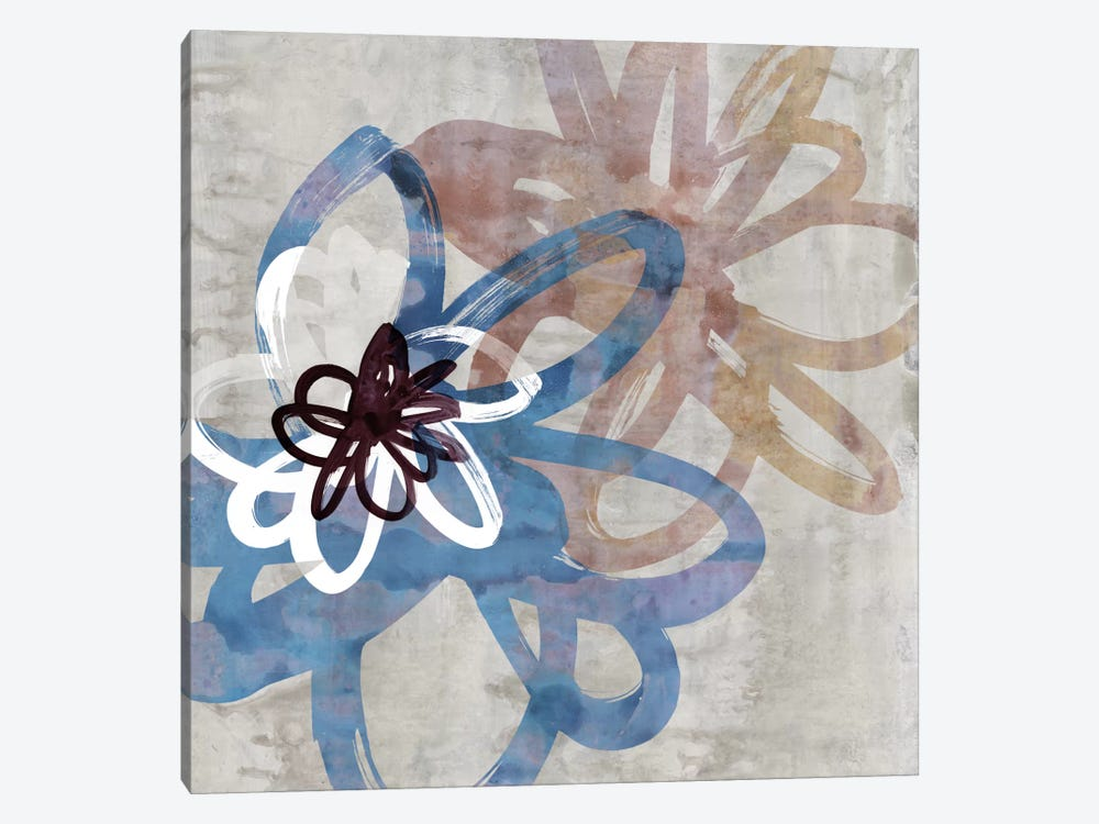 Scribbled Floral I by Edward Selkirk 1-piece Canvas Wall Art