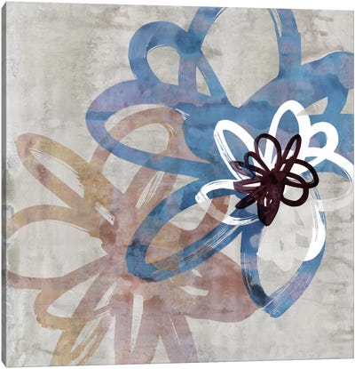 Scribbled Floral II Canvas Art Print