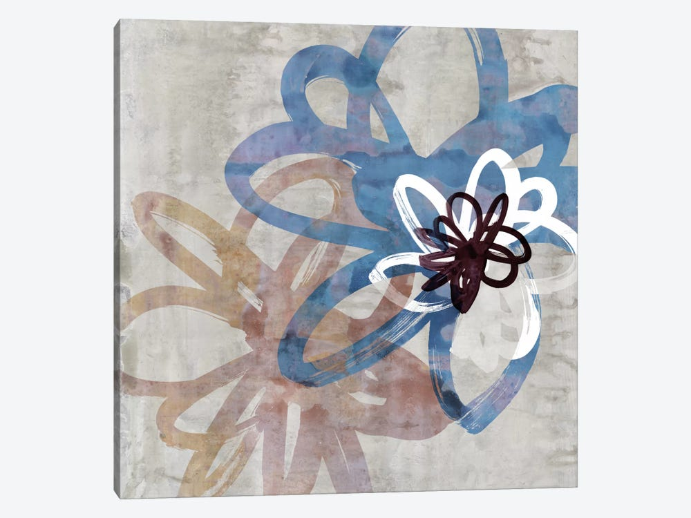 Scribbled Floral II by Edward Selkirk 1-piece Canvas Print