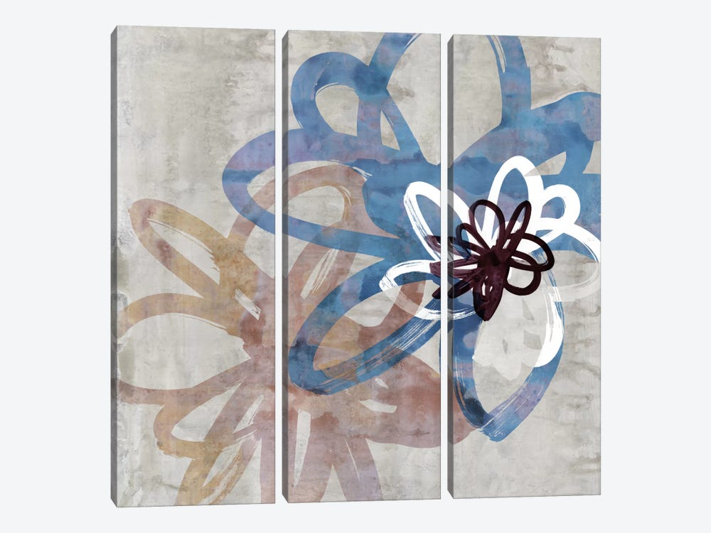 Scribbled Floral II by Edward Selkirk 3-piece Canvas Print