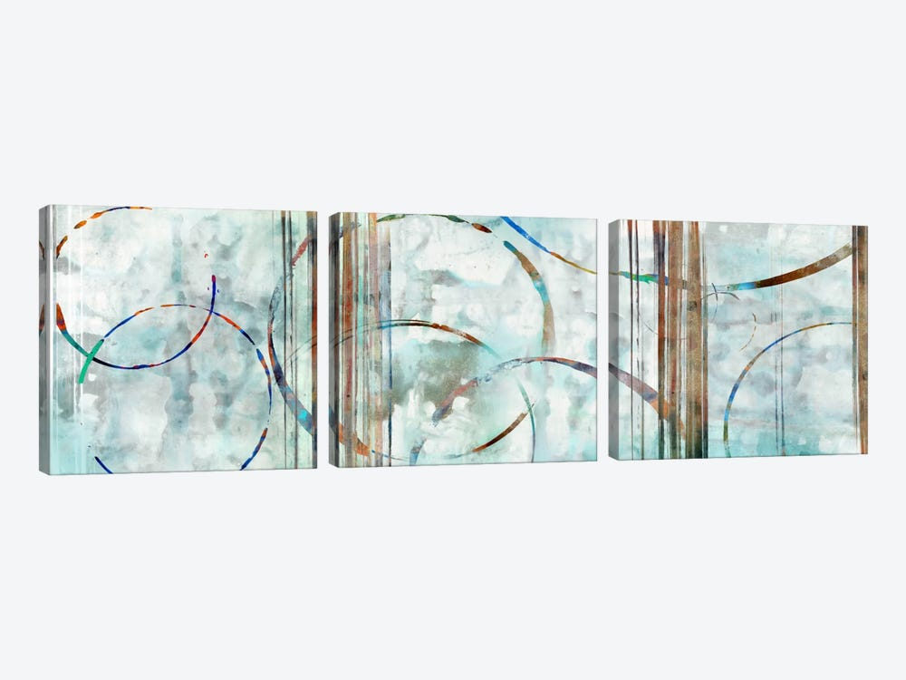 Seafoam Panoramic by Edward Selkirk 3-piece Canvas Art Print