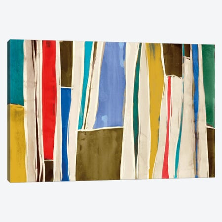 Striped Flat I Canvas Print #ESK250} by Edward Selkirk Canvas Art