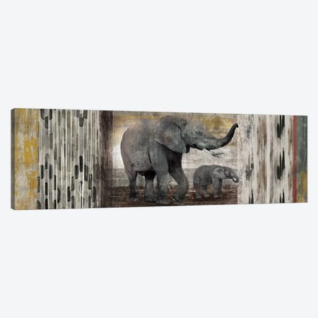 Tribal Elephants Canvas Print #ESK270} by Edward Selkirk Canvas Wall Art