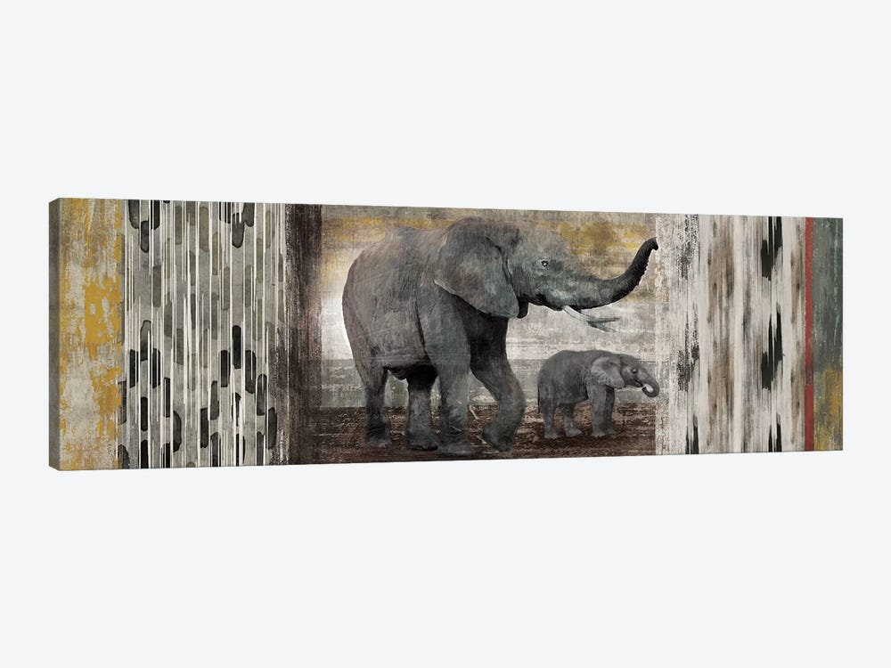 Tribal Elephants by Edward Selkirk 1-piece Canvas Art