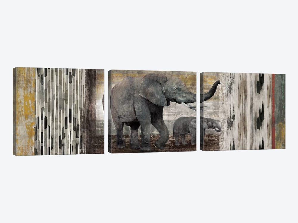 Tribal Elephants by Edward Selkirk 3-piece Canvas Artwork