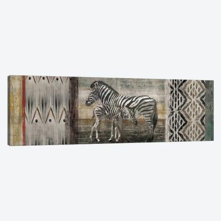 Tribal Zebras Canvas Print #ESK271} by Edward Selkirk Canvas Artwork