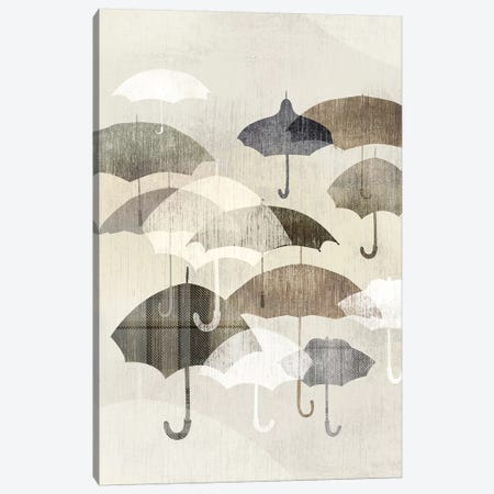 Umbrella Rain I Canvas Print #ESK274} by Edward Selkirk Art Print
