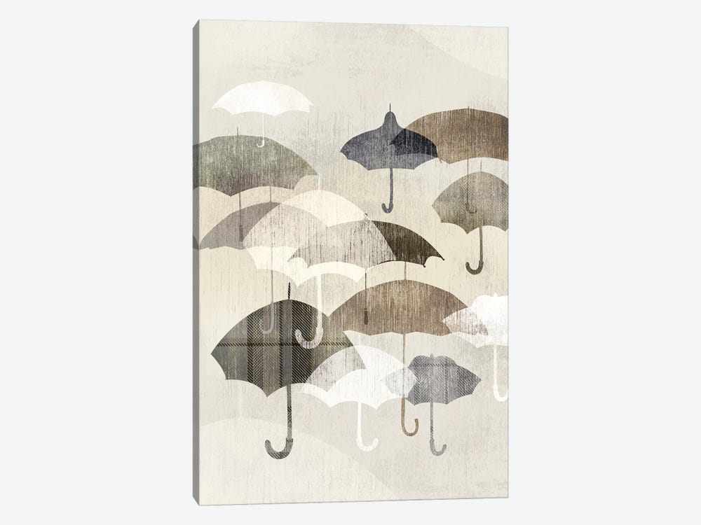 Umbrella Rain I 1-piece Canvas Wall Art
