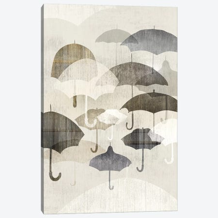 Umbrella Rain II Canvas Print #ESK275} by Edward Selkirk Canvas Art Print