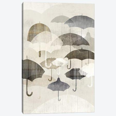 Umbrella Rain II Canvas Print #ESK275} by Edward Selkirk Canvas Art Print