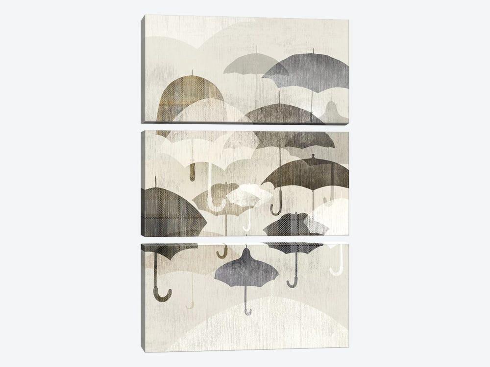 Umbrella Rain II by Edward Selkirk 3-piece Canvas Art Print