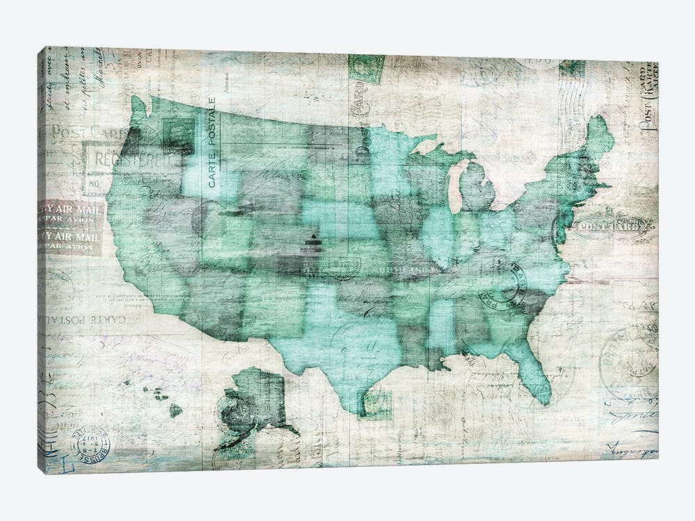 USA by Edward Selkirk 1-piece Canvas Wall Art