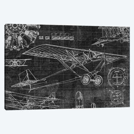 Vintage Aviation I 3-Piece Canvas #ESK286} by Edward Selkirk Canvas Artwork