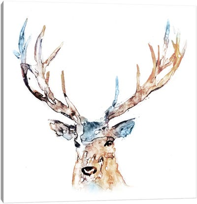 Watercolour Reindeer Canvas Art Print