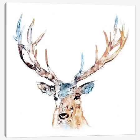 Watercolour Reindeer Canvas Print #ESK294} by Edward Selkirk Canvas Print