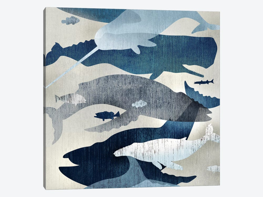Whale Watching I by Edward Selkirk 1-piece Canvas Print