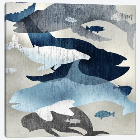 Whale Watching II Canvas Print #ESK298} by Edward Selkirk Canvas Wall Art