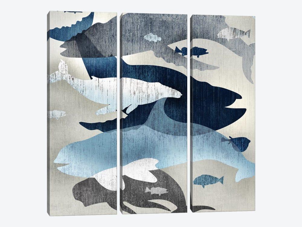 Whale Watching II by Edward Selkirk 3-piece Canvas Art