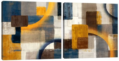 Beginning Diptych Canvas Art Print
