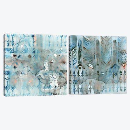 Mezzoteal Diptych Canvas Print Set #ESK2HSET005} by Edward Selkirk Canvas Wall Art