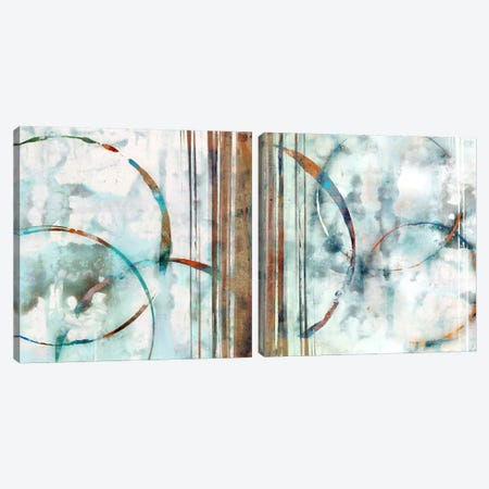 Seafoam Diptych Canvas Print Set #ESK2HSET010} by Edward Selkirk Canvas Wall Art