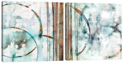 Seafoam Diptych Canvas Art Print