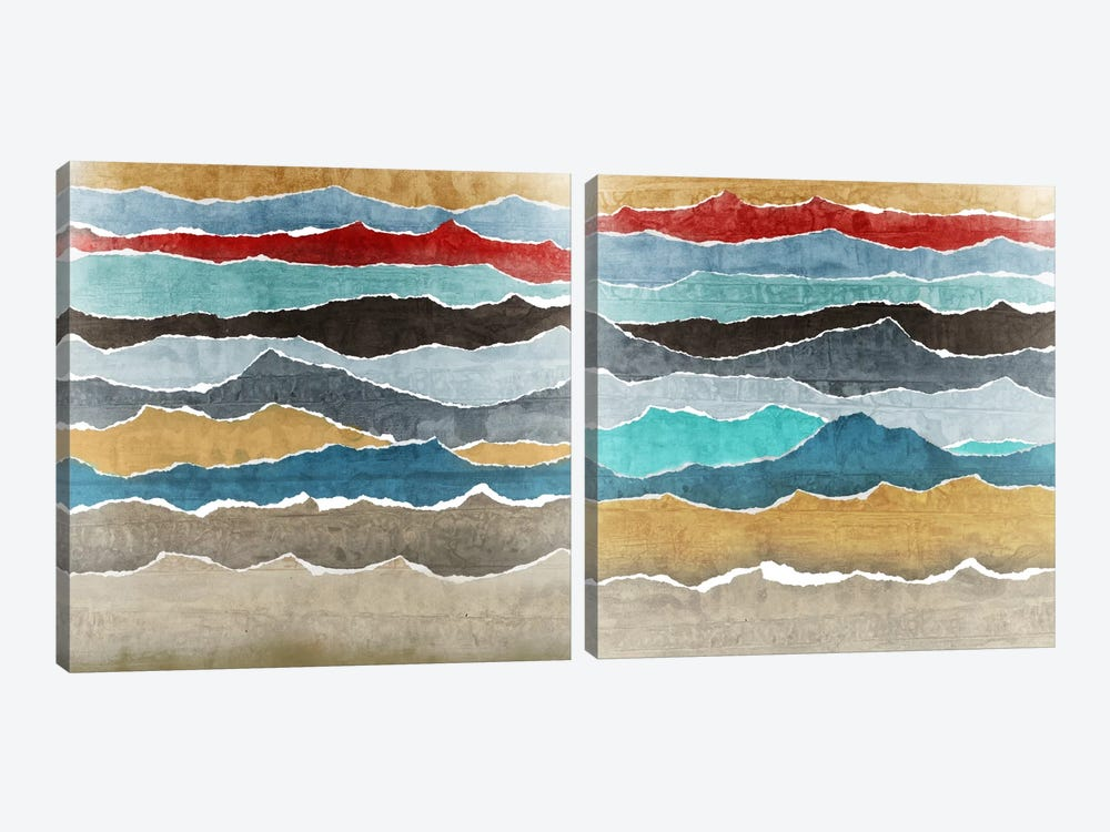 Torn Diptych by Edward Selkirk 2-piece Canvas Wall Art