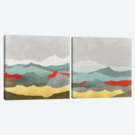 Vast Plains Diptych Canvas Print Set #ESK2HSET014} by Edward Selkirk Art Print