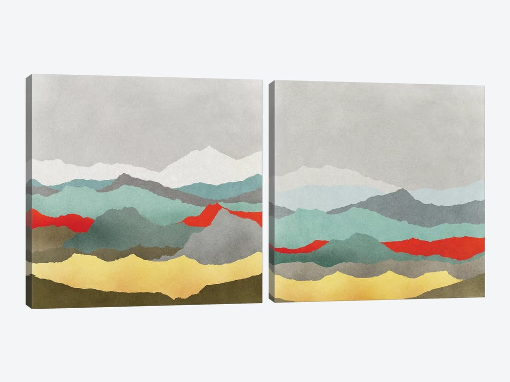 Vast Plains Diptych by Edward Selkirk 2-piece Art Print