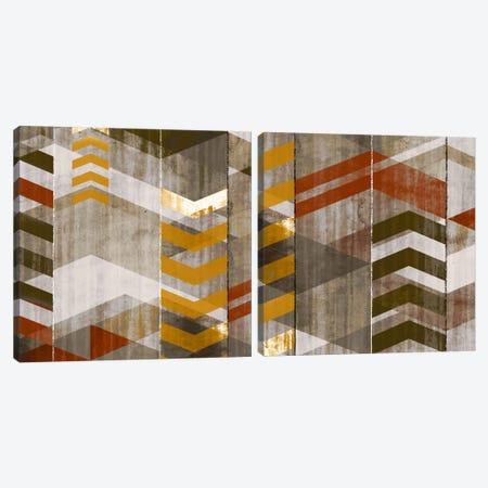 Chevron Serenade Diptych Canvas Print Set #ESK2HSET015} by Edward Selkirk Canvas Art Print
