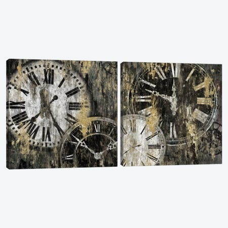 Clockwork Diptych Canvas Print Set #ESK2HSET016} by Edward Selkirk Canvas Print