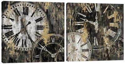 Clockwork Diptych Canvas Art Print