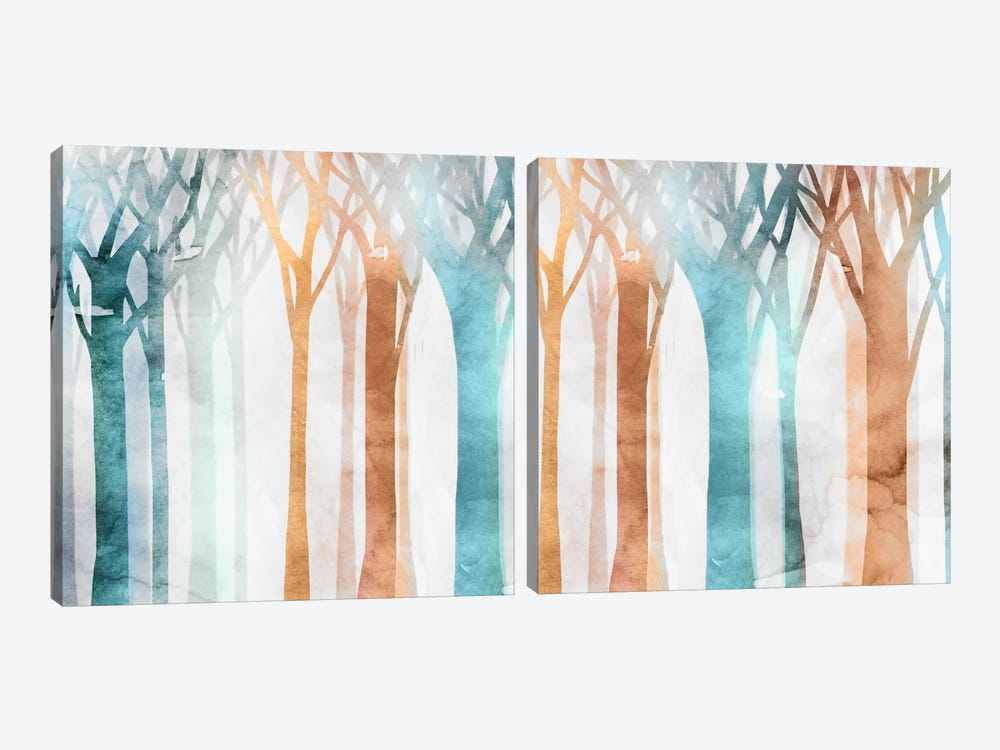 Dancing Trees Diptych by Edward Selkirk 2-piece Canvas Artwork