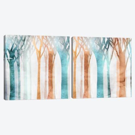 Dancing Trees Diptych Canvas Print Set #ESK2HSET017} by Edward Selkirk Canvas Art Print