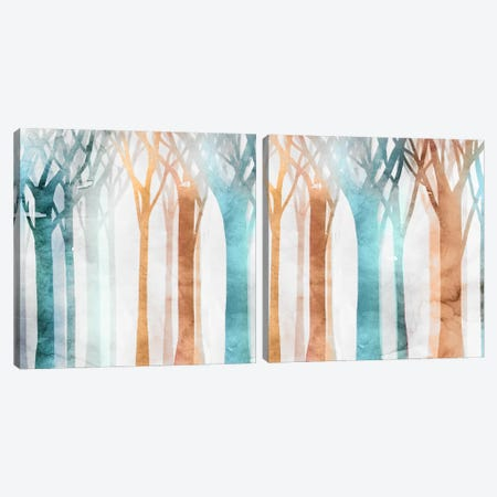 Dancing Trees Diptych Canvas Print Set #ESK2HSET017} by Edward Selkirk Canvas Art Print