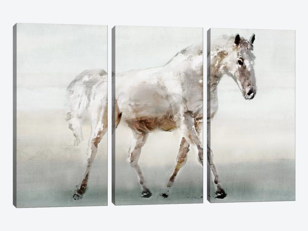 White Horse by Edward Selkirk 3-piece Canvas Wall Art