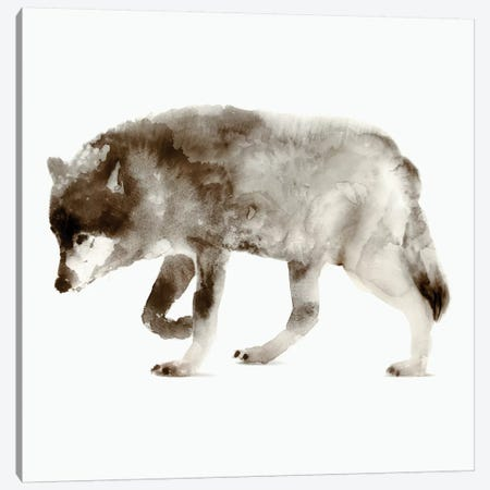 Wolf Canvas Print #ESK303} by Edward Selkirk Canvas Art