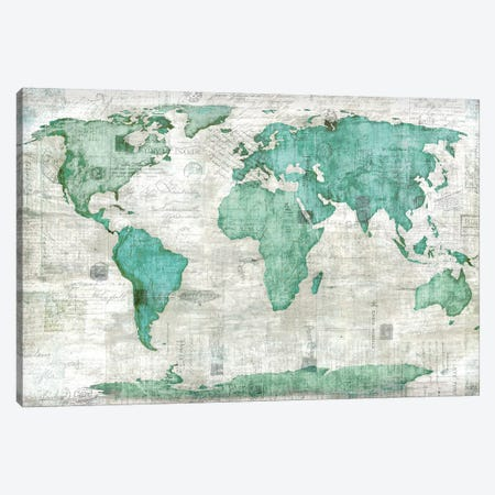World Canvas Print #ESK304} by Edward Selkirk Canvas Art Print