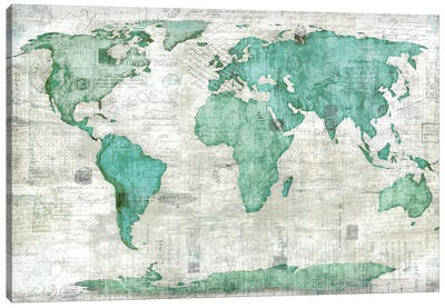 World Canvas Art Print