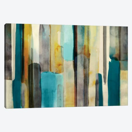 Woven In Teal Canvas Print #ESK305} by Edward Selkirk Canvas Art Print
