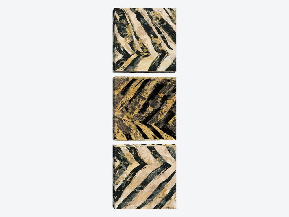 Zebra Squares II by Edward Selkirk 3-piece Canvas Print