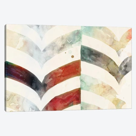 Chevron Evening Canvas Print #ESK33} by Edward Selkirk Canvas Artwork