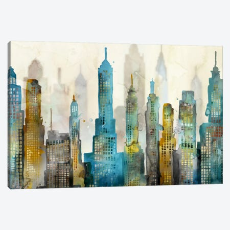 City Sky Canvas Print #ESK37} by Edward Selkirk Art Print